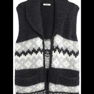 Madewell hand knitted fair isle sweater vest